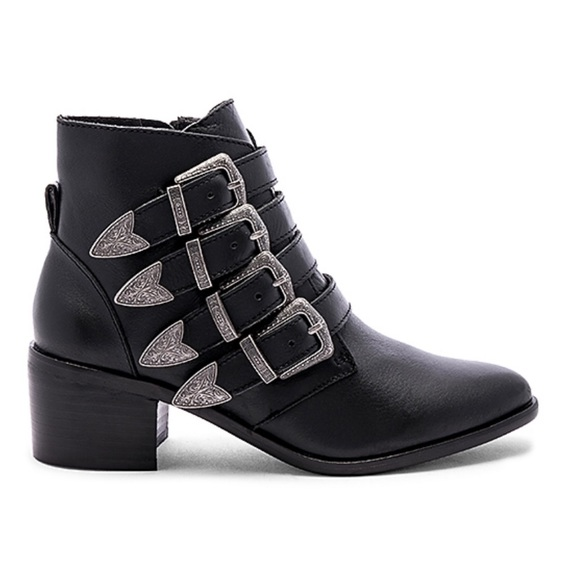 4afa393801f M 5c5e744c3c984416a0053b5f. Other Shoes you may like. Steve Madden Booties. Steve  Madden Booties.  88  207. NWT Steve Madden BLACK LEATHER BELTED ANKLE BOOT